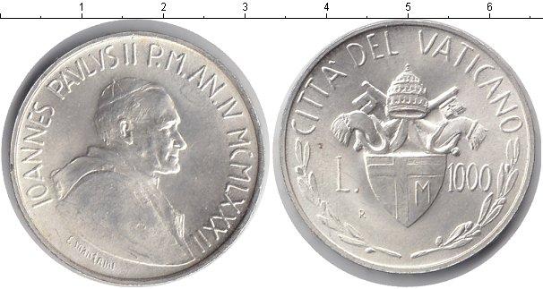 Картинка Монеты Ватикан 1.000 лир Серебро 1982