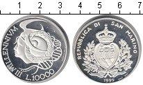 Изображение Монеты Сан-Марино 10000 лир 1999 Серебро Proof- Миллениум