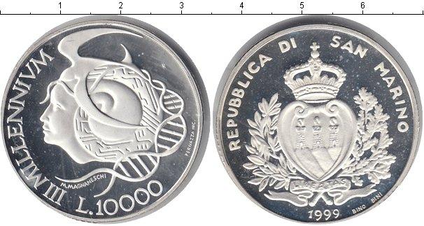 Картинка Монеты Сан-Марино 10.000 лир Серебро 1999