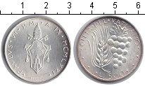 Изображение Монеты Ватикан 500 лир 1971 Серебро UNC- Гроздь винограда