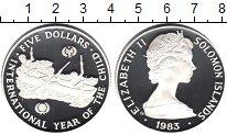 Изображение Монеты Соломоновы острова 5 долларов 1983 Серебро Proof- Год детей