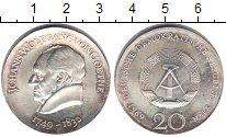 Изображение Монеты ГДР 20 марок 1969 Серебро UNC- Гете