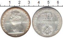 Изображение Монеты ГДР 10 марок 1980 Серебро UNC- Шарнхорст