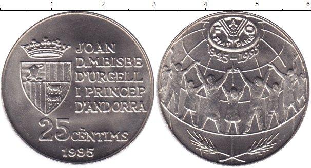Картинка Мелочь Андорра 25 сентим Медно-никель 1995