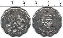 Изображение Мелочь Свазиленд 20 центов 1981 Медно-никель UNC-