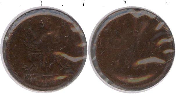 Картинка Монеты Франкфурт 1 геллер Медь 1824