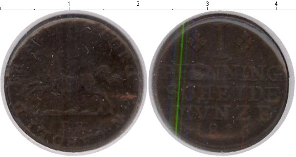 Картинка Монеты Брауншвайг-Вольфенбюттель 1 пфенниг Медь 1816