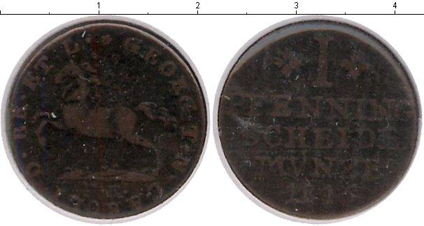 Картинка Монеты Брауншвайг-Вольфенбюттель 1 пфенниг Медь 1815