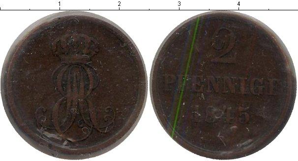 Картинка Монеты Ганновер 2 пфеннига Медь 1845