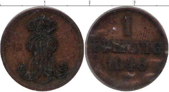 Картинка Монеты Ганновер 1 пфенниг Медь 1846
