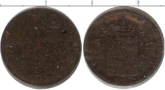 Картинка Монеты Саксе-Альтенбург 1 пфенниг Медь 1868
