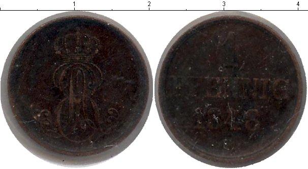 Картинка Монеты Ганновер 1 пфенниг Медь 1848