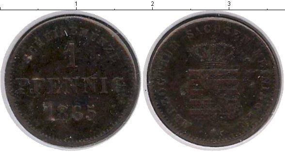Картинка Монеты Саксен-Майнинген 1 пфенниг Медь 1865