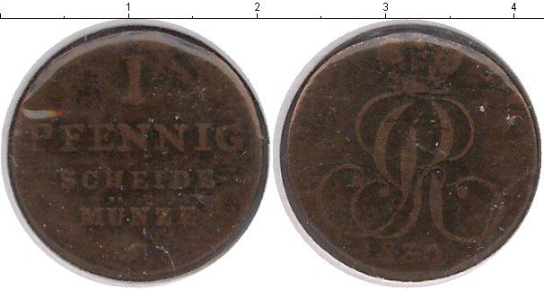 Картинка Монеты Ганновер 1 пфенниг Медь 1830