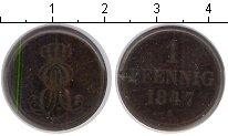 Изображение Монеты Ганновер 1 пфенниг 1847 Медь  A