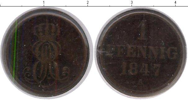 Картинка Монеты Ганновер 1 пфенниг Медь 1847