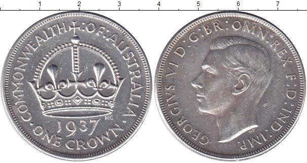 Картинка Мелочь Австралия 1 крона Серебро 1937