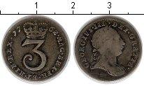 Изображение Монеты Великобритания 3 пенни 1762 Серебро VF
