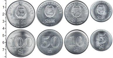 Изображение Наборы монет Северная Корея Северная Корея 2005 2005 Алюминий UNC- В наборе 4 монеты но