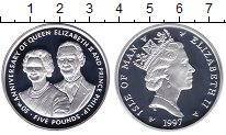 Изображение Монеты Остров Мэн 5 фунтов 1997 Серебро Proof-