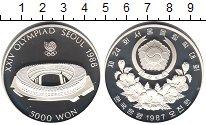Изображение Мелочь Северная Корея 5.000 вон 1987 Серебро Proof Олимпиада 1988 в Сеу