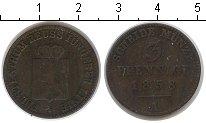 Изображение Монеты Рейсс-Оберграйц 3 пфеннига 1858 Медь  A