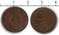 Изображение Монеты Нассау 1/4 крейцера 1822 Медь