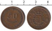 Изображение Мелочь Гвинея-Бисау 50 сентаво 1952 Медь XF Португальская Гвинея