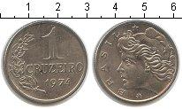 Изображение Мелочь Бразилия 1 крузейро 1974 Медно-никель UNC-