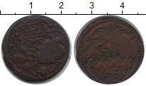Изображение Монеты Ватикан 1 кватрино 0 Медь  17 век