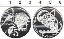 Изображение Монеты Сан-Марино 5 евро 2007 Серебро Proof- Тоскани