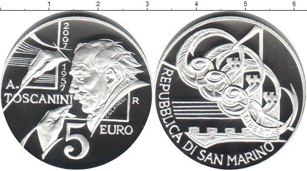 Картинка Монеты Сан-Марино 5 евро Серебро 2007
