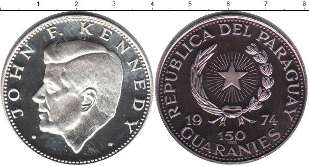 Картинка Монеты Парагвай 150 гуарани Серебро 1974