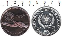 Изображение Монеты Парагвай 150 гуарани 1972 Серебро Proof-