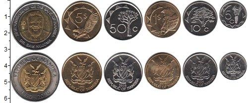 Изображение Наборы монет Намибия Намибия 1993-2010 0  UNC- В наборе 6 монет ном