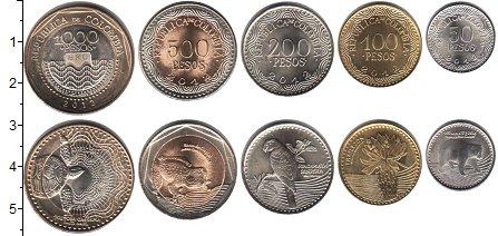 Изображение Наборы монет Колумбия Колумбия 2016 2016  UNC-
