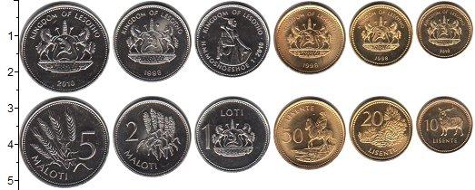 Изображение Наборы монет Лесото Лесото 1998-2010 2010  UNC- В наборе 6 монет ном