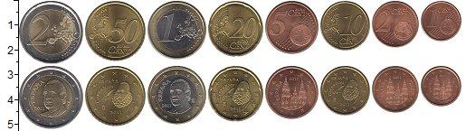 Изображение Наборы монет Испания Испания 1999-2009 0  XF+ В наборе 8 монет ном