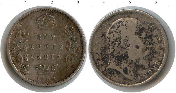 Картинка Монеты Индия 1 рупия Серебро 1903