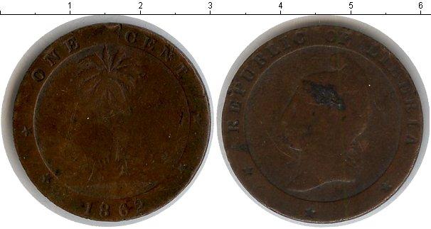 Картинка Монеты Либерия 1 цент Медь 1862