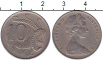 Изображение Мелочь Австралия 10 центов 1968 Медно-никель XF Елизавета II
