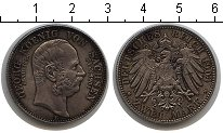 Изображение Монеты Саксония 2 марки 1904 Серебро XF Посмертные. E