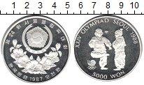 Изображение Мелочь Северная Корея 5000 вон 1987 Серебро Proof