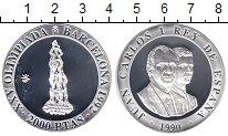 Изображение Монеты Испания 2.000 песет 1990 Серебро Proof Олимпиада 1992 в Бар
