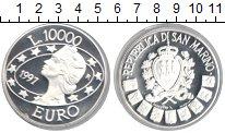 Изображение Монеты Сан-Марино 10.000 лир 1997 Серебро Proof-