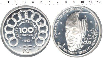 Картинка Монеты Франция 100 франков Серебро 1992