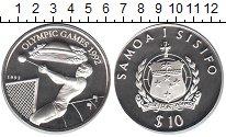 Изображение Монеты Самоа 10 долларов 1992 Серебро Proof Олимпиада 1992 в Бар