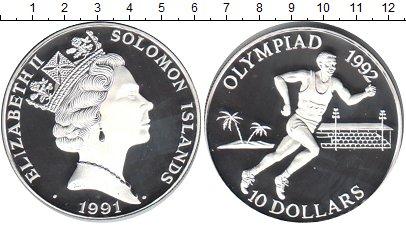Картинка Монеты Соломоновы острова 10 долларов Серебро 1991