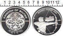 Изображение Монеты Бутан 300 нгултрум 1992 Серебро Proof Олимпиада 1992 в Бар