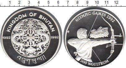 Картинка Монеты Бутан 300 нгултрум Серебро 1992